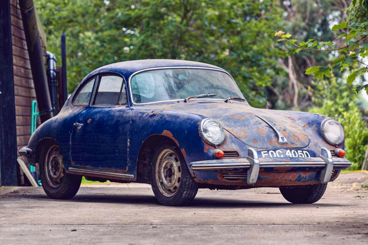Barn find 1965 Porsche 356C 1600 Super 8