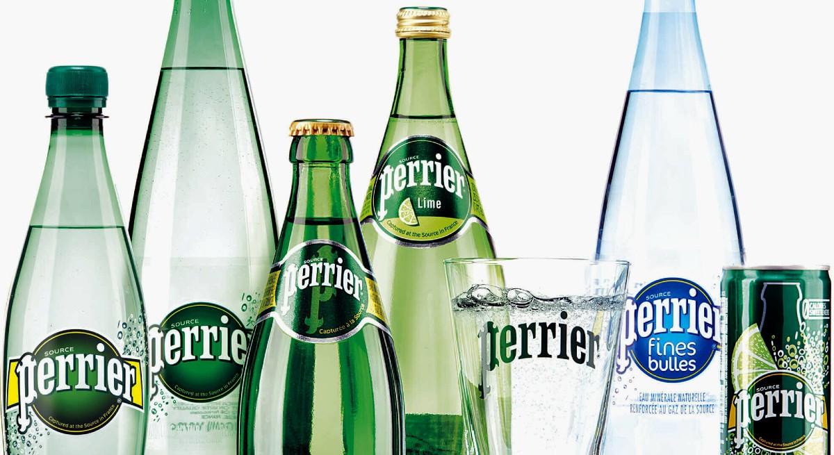 Different Perrier bottles