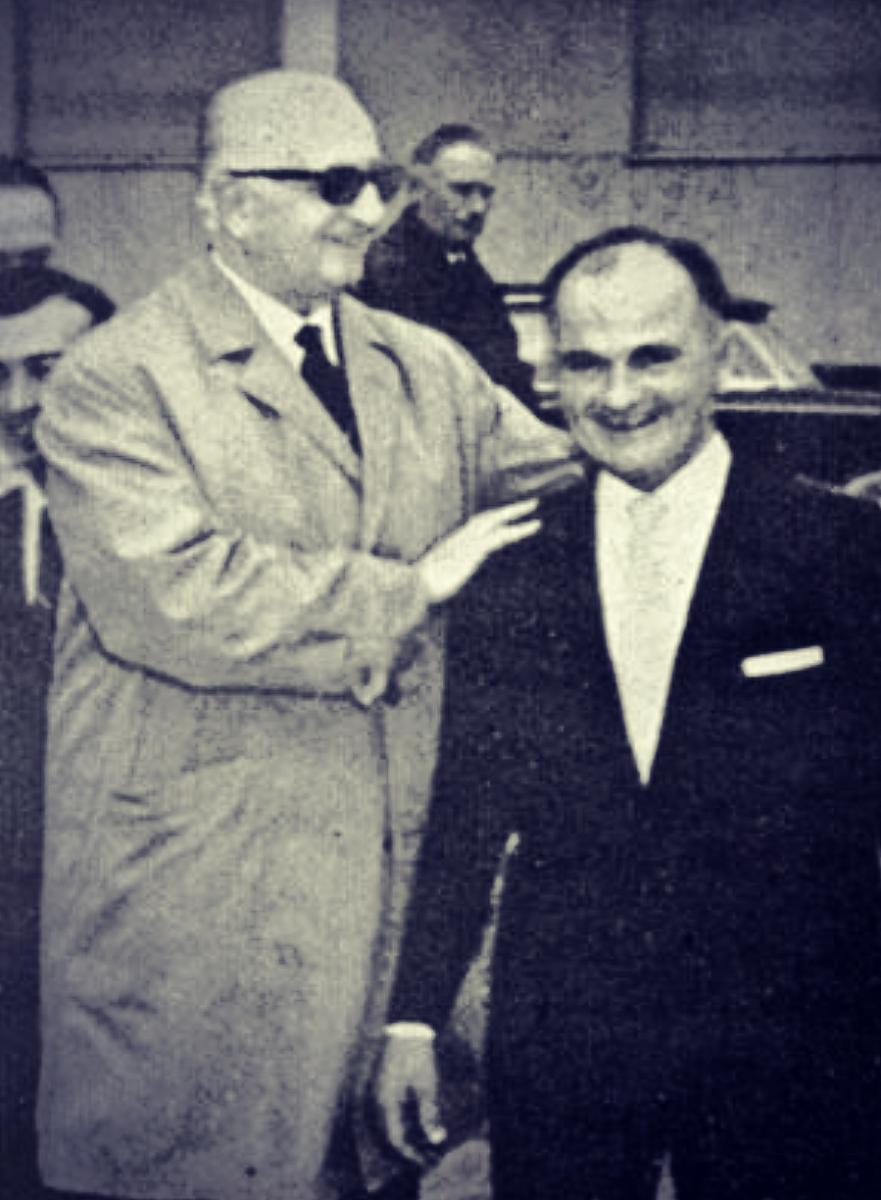 Enzo Ferrari and Ilario Bandini