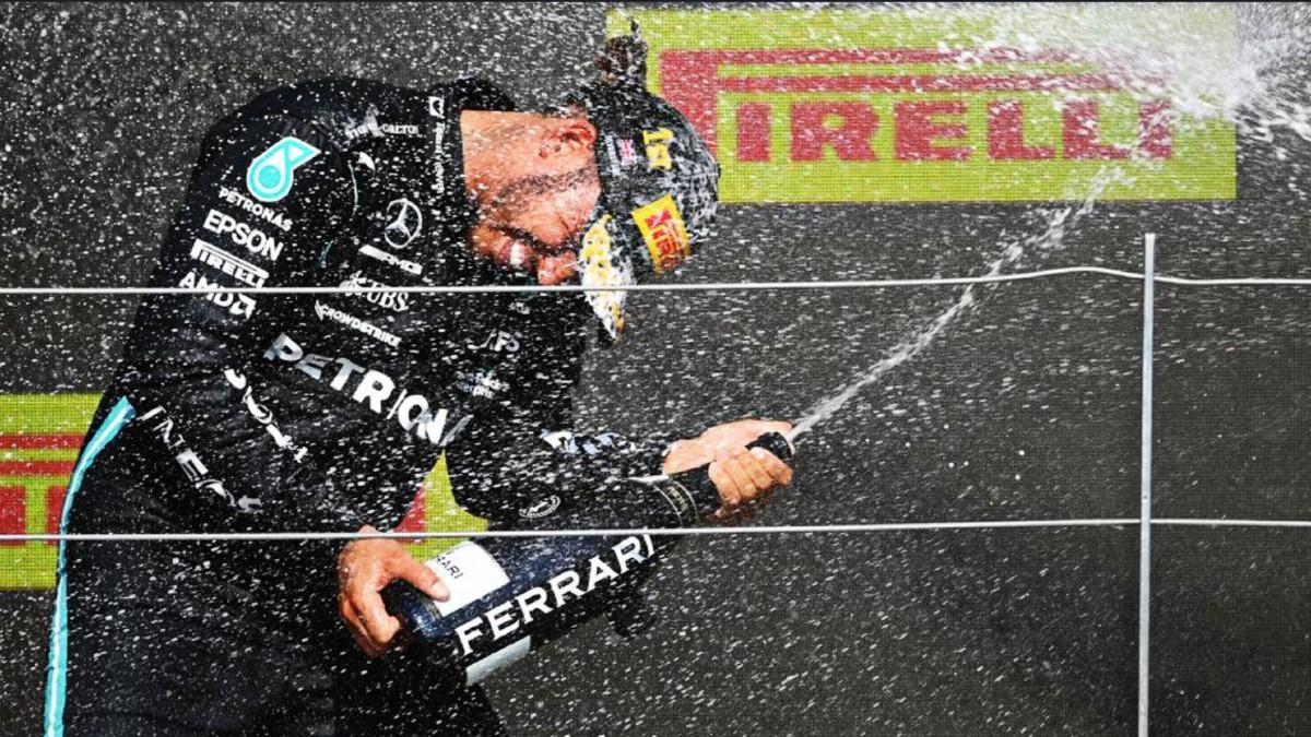 Lewis Hamilton celebrates 2