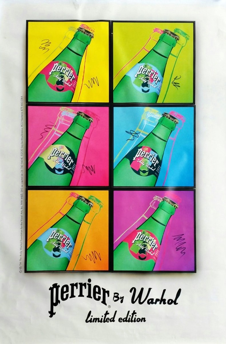 Perrier by Andy Warhol limited edition