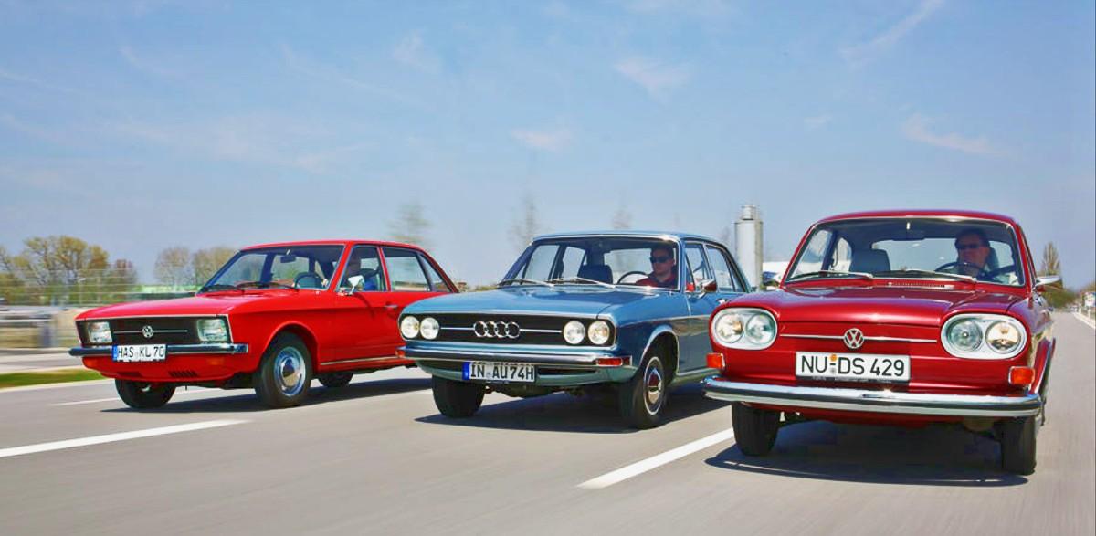 Volkswagen K70 with competitors Audi 100 C1 and Volkswagen 411