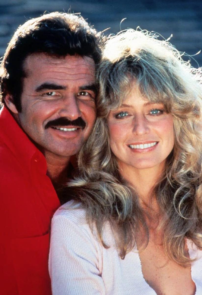 Stars Burt Reynolds and Farrah Fawcett