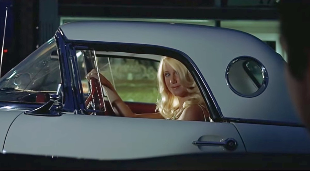 Suzanne Somers in a 1956 Ford Thunderbird